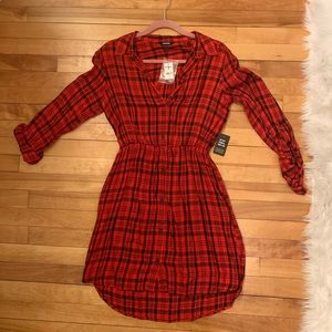 Express - plaid shirt-dress